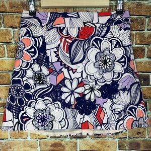 Express Bold Floral A-Line Skirt Size 6